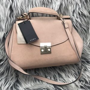 Zara Suede Authentic Leather Bag